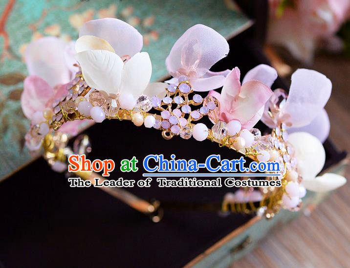 Traditional Jewelry Accessories, Princess Wedding Hair Accessories, Bride Wedding Hair Accessories, Headwear, Baroco Style Handmade Flowers Feather Hair Claw for Women