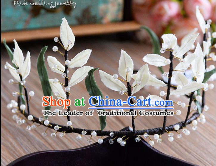 Traditional Jewelry Accessories, Palace Princess Bride Royal Crown, Engagement Royal Crown, Wedding Hair Accessories, Baroco Style Crystal Flowers Headwear for Women