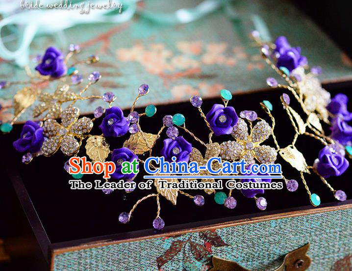 Traditional Jewelry Accessories, Princess Wedding Hair Accessories, Bride Wedding Hair Accessories, Headband, Baroco Style Handmade Crystal Hair Claw for Women