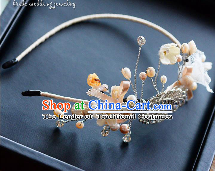 Traditional Jewelry Accessories, Princess Wedding Hair Accessories, Bride Wedding Hair Accessories, Headband, Baroco Style Handmade Pearl Hair Claw for Women