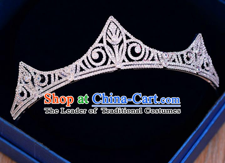 Traditional Jewelry Accessories, Palace Princess Bride Royal Crown, Engagement Retro Royal Crown, Wedding Hair Accessories, Baroco Style Crystal Zircon Headwear for Women