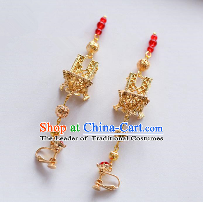 Chinese Ancient Style Hair Jewelry Accessories, Earring, Hanfu Xiuhe Suits Wedding Bride Earrings for Women