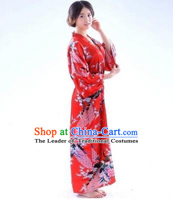 Japanese Traditional Kimono Costumes Women Dress COSPLAY Japanese Traditional Garment Wedding Dress Ceremonial Wafuku Stage Show Aristolochia ringens Red