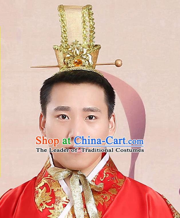 Chinese Ancient Style Hair Accessories, Han Dynasty Emperor Crown, Majesty Hat