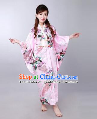 Japanese Traditional Kimono Costumes Women Dress COSPLAY Japanese Traditional Garment Wedding Dress Ceremonial wafuku Stage Show PInk