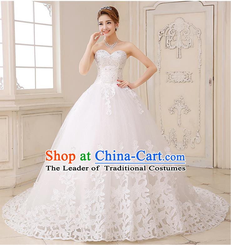 Traditional Chinese Bride Strapless Wedding Dress, Short Wedding ...