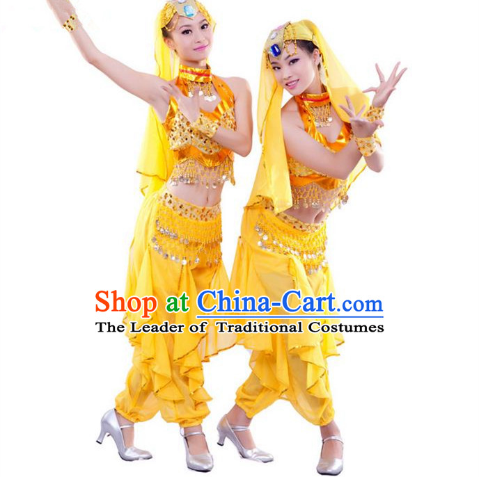 afd668155 Traditional Indian Dancing Costume, Folk Dance Ethnic Costume, Chinese  Xinjiang Nationality Dancing Costumes, Belly Dance Cloth for Women