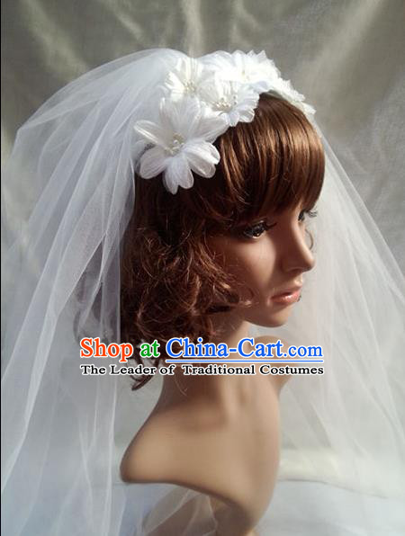 Chinese Wedding Jewelry Accessories, Traditional Bride Headwear, Wedding Tiaras, bridal hair accessory Veil