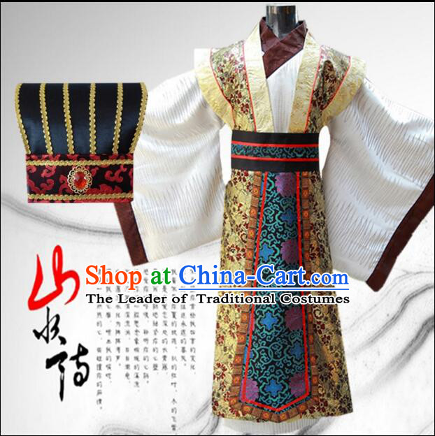 Tang Suit Men Chinese Traditional Costumes Han Fu Outfit Complete Set COSPLAY Stage Clothes