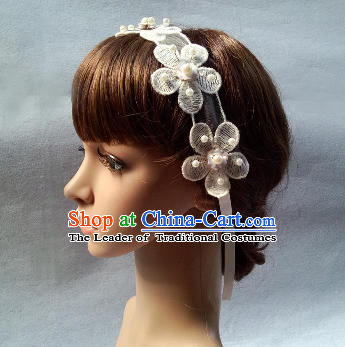 Chinese Wedding Jewelry Accessories, Traditional Bride Headwear, Wedding Tiaras, Imperial Bridal Wedding Flowers Hair Clasp