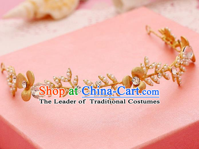 Chinese Wedding Jewelry Accessories, Traditional Bride Headwear, Wedding Tiaras, Imperial Bridal Wedding Crystal Royal Crown Hair Clasp