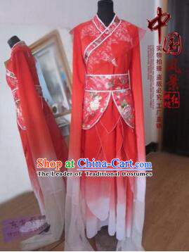 Chinese Traditional Costume Empresses in the Palace Water Sleeves Qi Xian nv Dancing Clothes Jing Hong Red