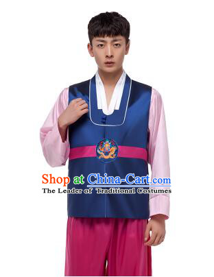 Korean Traditional Formal Dress Set Men Clothes Traditional Korean Traditional Costumes Full Dress Formal Attire Ceremonial Dress Court  Blue