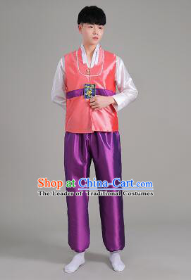 Korean Traditional Formal Dress Set Men Clothes Traditional Korean Traditional Costumes Full Dress Formal Attire Ceremonial Dress Court Pink