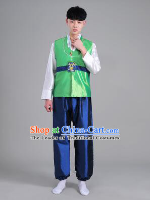 Korean Traditional Formal Dress Set Men Clothes Traditional Korean Traditional Costumes Full Dress Formal Attire Ceremonial Dress Court Green
