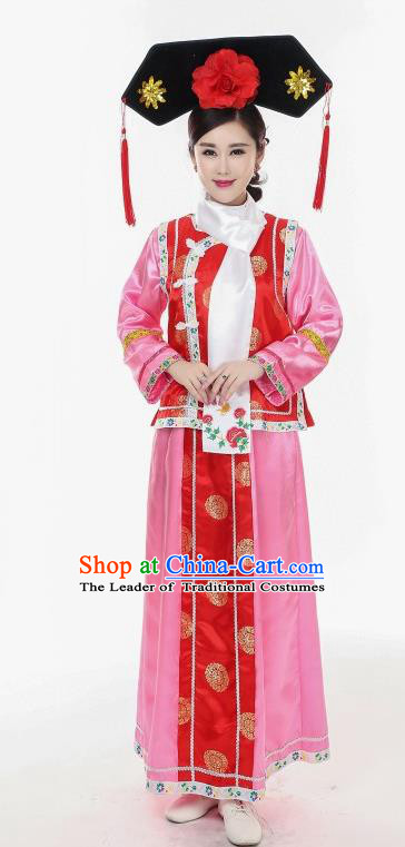 Traditional Chinese Acient Qang Dynasty Costume, Manchu Princess Costume, Qing Dynasty Palace Dress for Women