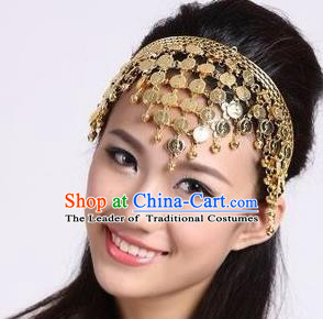 Traditional India Hair Accessories, Indian Headwear, Traditional Belly Dance Headdress, Stage Accessories