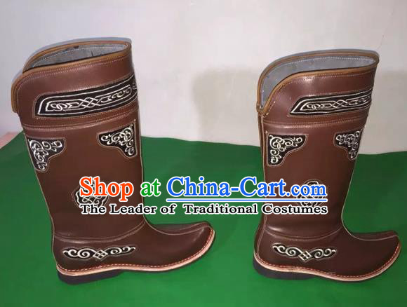 Traditional Chinese Minority Mongol Nationality Ethnic Minorities Mongolian Boots Mongolian Jockey Boots Tanks Boots