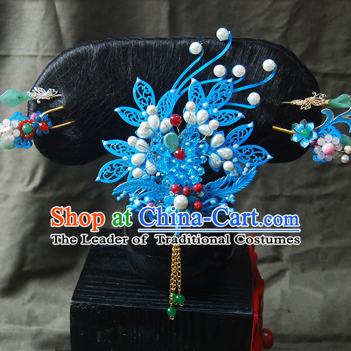 Chinese Ancient Style Hair Jewelry Accessories, Headwear, Headdress, Hanfu Bride Wedding Hairpins, Hair Fascinators for Women