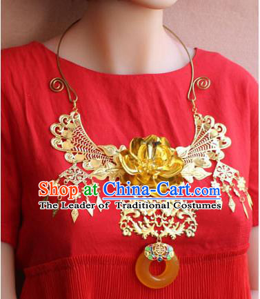Chinese Imperial Queen Necklace, Empress Necklaces, Wedding Accessories For Women
