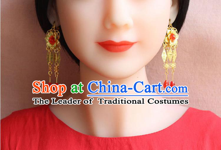 Ancient Chinese Style Imperial Palace Empress Queen Earrings