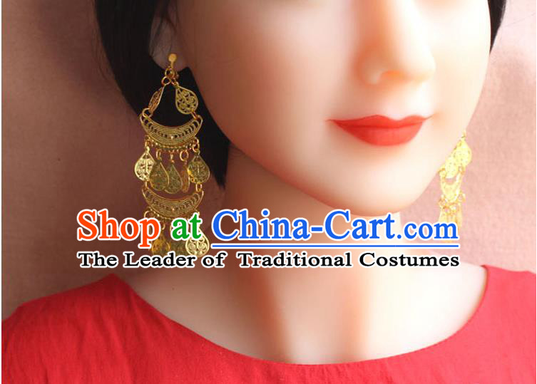 Ancient Chinese Style Imperial Palace Empress, Queen, Empress Earrings, Wedding Accessories For Women