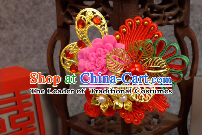 Chinese Ancient Style Hair Jewelry Accessories, Hairpins, Hanfu Xiuhe Suit Wedding Bride for Hair Accessories Women