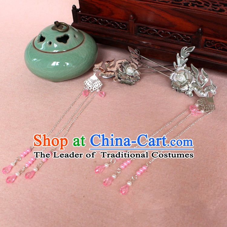 Chinese Ancient Style Hair Jewelry Accessories, Hairpins Han Dynasty Princess Hanfu Xiuhe Suit Wedding Bride Phoenix Coronet, Hair Accessories for Women
