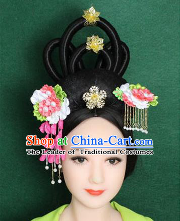 Chinese Ancient Style Hair Jewelry Accessories, Hairpins, Han Dynasty Princess, Hanfu Xiuhe Suit Wedding Bride Hair Accessories for Women