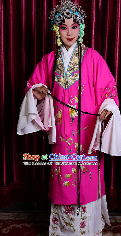 Chinese Classical Beijing Opera Peking Opera Hua Dan Costumes Embroidered Robe