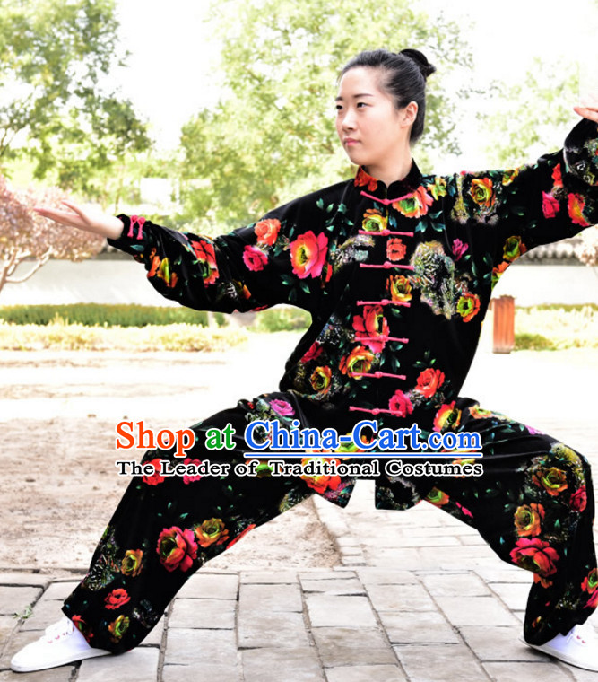 Black Top Kung Fu Flax Clothing Mandarin Costume Jacket Martial Arts Clothes Shaolin Uniform Kungfu Uniforms Supplies for Men Women Adults Children