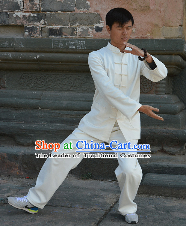 Wudang Uniform Taoist Uniform Kungfu Kung Fu Clothing Clothes Pants Shirt Supplies Wu Gong Flax Outfits