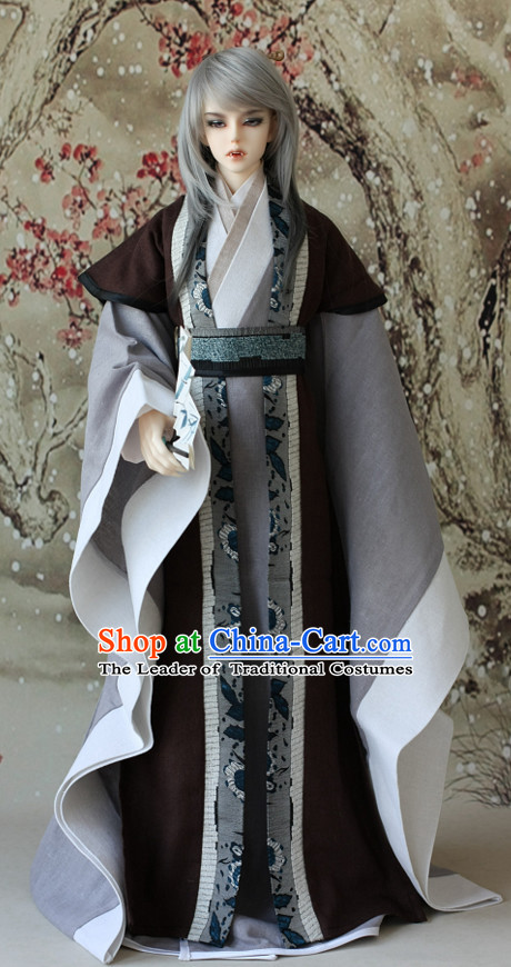 Ancient Chinese Poet Hanfu Costume for Men Boys Adults Kids