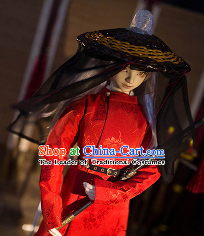 Chinese Style Dresses Chinese Swordsman Clothing Clothes Han Chinese Costume Hanfu for Men Adults Children