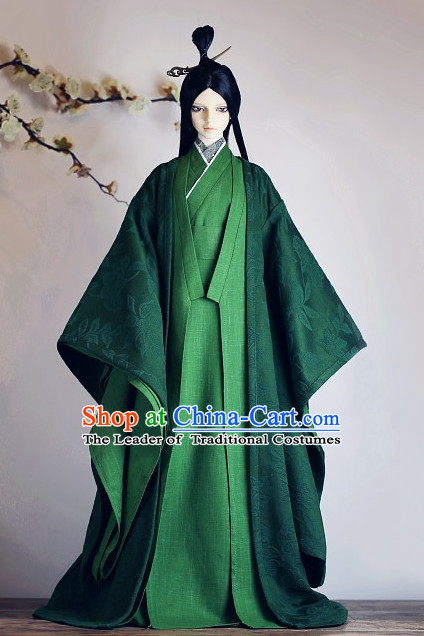 Ancient Chinese Hanfu Garment BJD Costumes for Men Boys Adults Kids