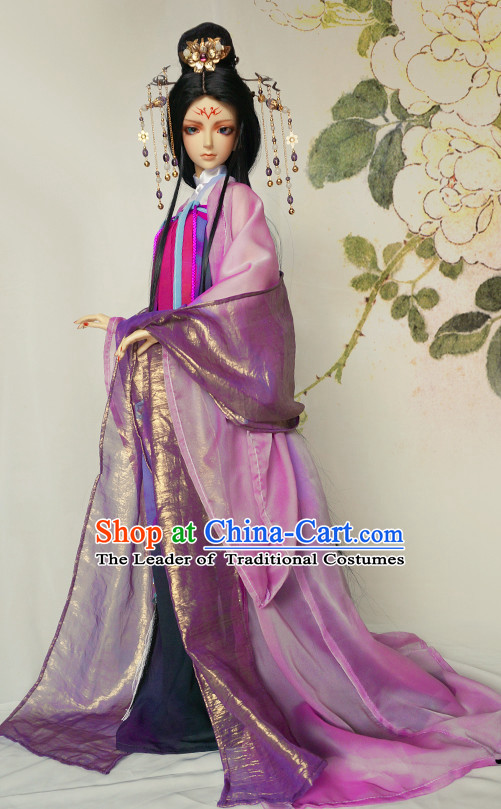 Chinese Style Dresses Chinese Princess Empress Clothing Clothes Han Chinese Costume Hanfu and Hair Jewelry Complete Set for Women Adults Children