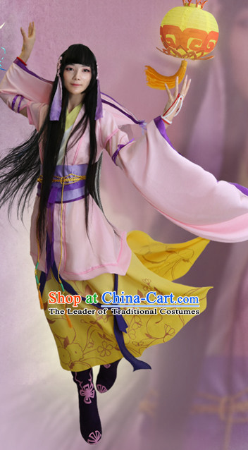 Chinese Style Dresses Chinese Fairy Clothing Clothes Han Chinese Costume Hanfu and Hair Jewelry Complete Set for Women Adults Children