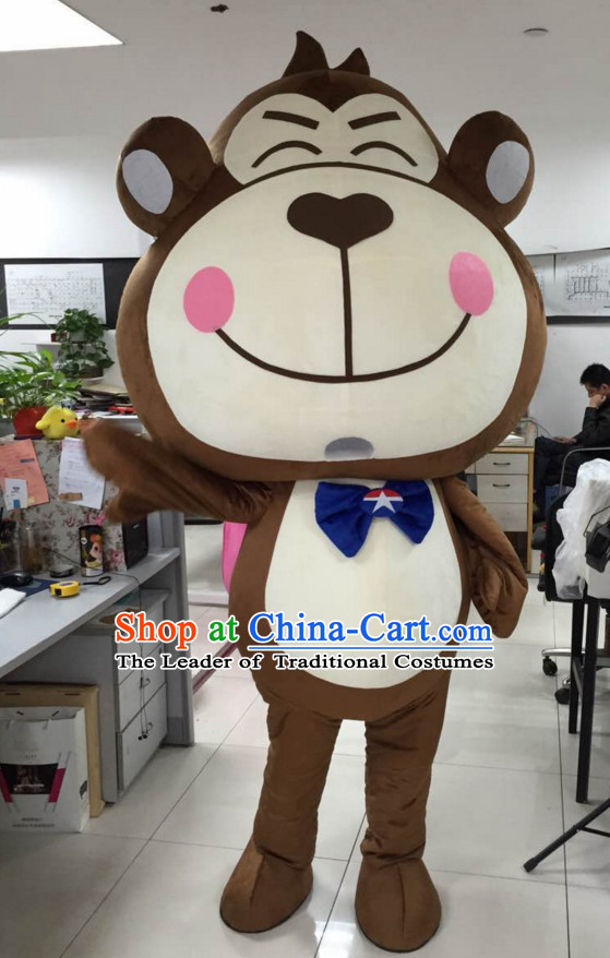 Free Design Professional Custom Made Mascot Costume Customized Mascots Costumes Happy Monkey Mascot Costumes