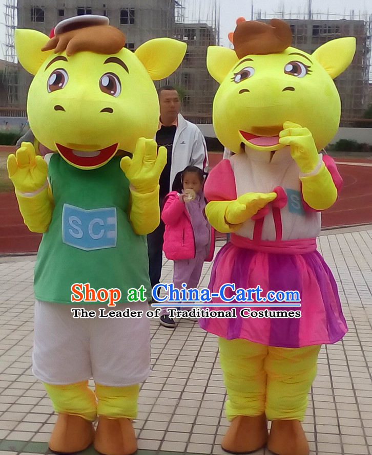 Free Design Professional Custom Made TV Commerical Mascot Costume Mascot Outfits Customized Cute Animal Cow Mascots Costumes