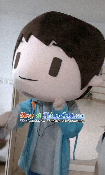 Free Design Professional Custom Made TV Commerical Mascot Costume Mascot Outfits Customized Cute Boy Mascots Costumes