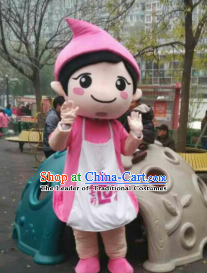 Free Design Professional Custom TV Commerical Mascot Uniforms Mascot Outfits Customized Cute Happy Girls Mascots Costumes