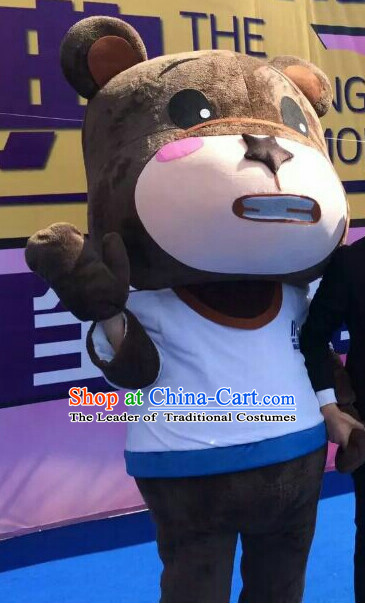 Free Design Professional Custom TV Commerical Mascot Uniforms Mascot Outfits Customized Animal Bear Mascots Costumes