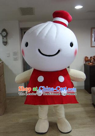Free Design Professional Custom Mascot Uniforms Mascot Outfits Customized Commerical Chinese Food Steamed Dumpling Mascots Costumes