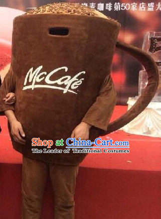 Free Design Professional Custom Mascot Uniforms Mascot Outfits Customized Cute Cartoon Character Coffee Cup Mascot Costumes