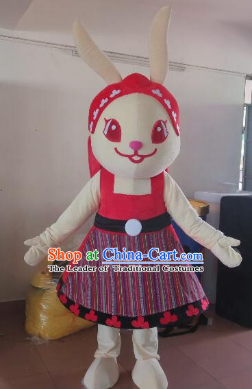 Free Design Professional Custom Mascot Uniforms Mascot Outfits Customized Cute Animal Cartoon Character Rabbit Mascot Costumes