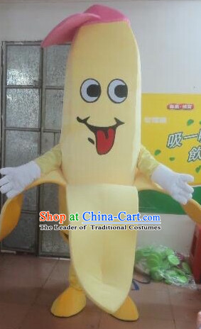Professional Custom Mascot Uniforms Mascot Outfits Customized Cute Fruit Cartoon Character Banana Mascot Costumes