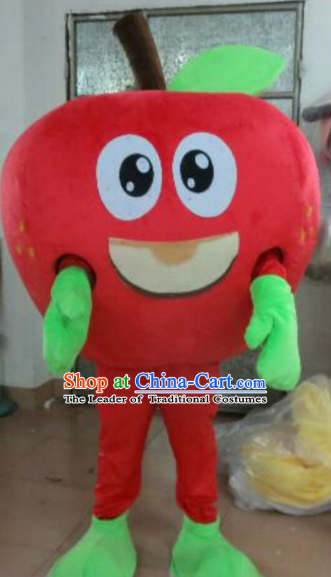 Professional Custom Mascot Uniforms Mascot Outfits Customized Fruit Cartoon Character Walking Apple Mascot Costumes