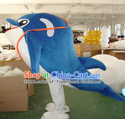 Mascot Uniforms Mascot Outfits Customized Walking Mascot Costumes Dolphin Mascots Costume