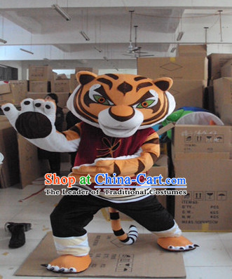 Mascot Uniforms Mascot Outfits Customized Walking Mascot Costumes Kung Fu Tiger Mascots Costume