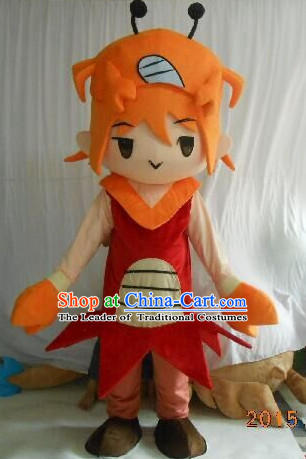 Professional Custom Mascot Uniforms Mascot Outfits Customized Cartoon Character Walking Crab Boy Mascot Costumes
